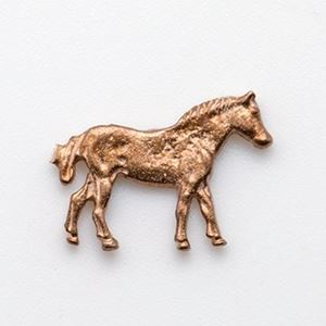 Picture of Red Brass Standing Horse Rodeo Cast, 14x18mm
