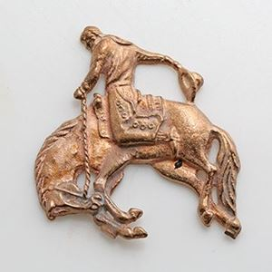 Picture of Red Brass Bronco Rider Rodeo Cast, 22x43mm