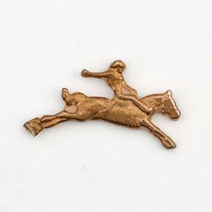 Picture of Red Brass Bronco Rider Rodeo Cast, 8x17mm.