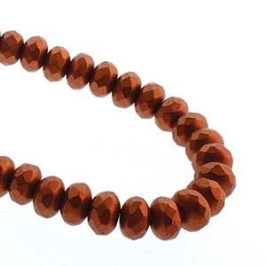 Picture of Czech Glass Bronze Copper Fire Polished Rondelle 4x7mm<br />40 ~        Beads