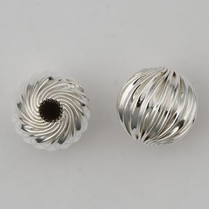 Picture of 11.5mm Sterling Silver Twisted Corrugated Bead