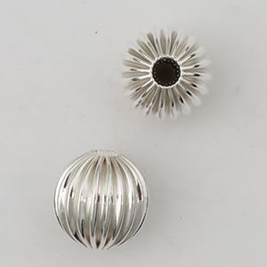 Picture of Sterling Silver Corrugated Rondelle Bead 7mm