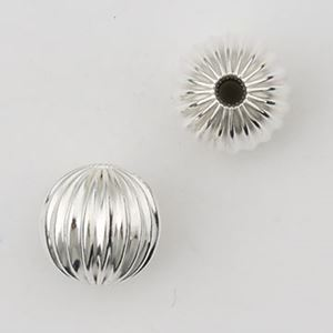 Picture of Sterling Silver Corrugated Rondelle Bead 8.5mm