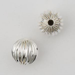 Picture of Sterling Silver Corrugated Rondelle Bead 9.8mm