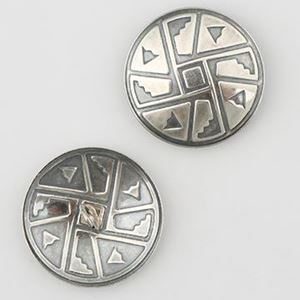 Picture of Sterling Silver Taos 20ga Concho with Loop, 25mm
