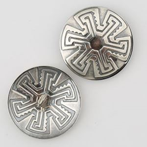 Picture of Sterling Silver Wheel Concho with Loop 25mm 20ga