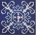 Picture of Diamond Dotz, White on Blue, Design Size 4x4in