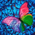 Picture of Diamond Dotz, Flutter By Pink, Design Size 12x12in