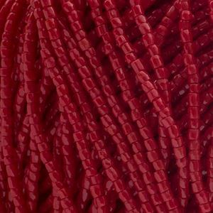 Picture of 3-Cut Size 9/0, Preciosa Czech Seed Bead, Opaque Dark Red, Sold by ~ the Hank