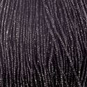 Picture of 3-Cut Size 9/0, Preciosa Czech Seed Bead, Opaque Black, Sold by the ~ Hank