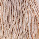 Picture of 3-Cut Size 9/0, Preciosa Czech Seed Bead, Opaque White Eggshell, Sold ~ by the Hank