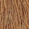 Picture of Czech Seed Bead, Gold Premium Opaque, 3 Cut Size 9/0