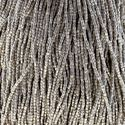 Picture of Czech Seed Bead, Silver Terra Metallic Opaque, 3 Cut Size 9/0 ~