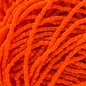 Picture of 3-Cut Size 9/0, Preciosa Czech Seed Bead, Opaque Orange, Sold by the ~ Hank