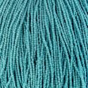 Picture of 3-Cut Size 9/0, Preciosa Czech Seed Bead, Opaque Turquoise Blue, Sold ~ by the Hank