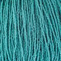 Picture of 3-Cut Size 9/0, Preciosa Czech Seed Bead, Opaque Turquoise, Sold by ~ the Hank