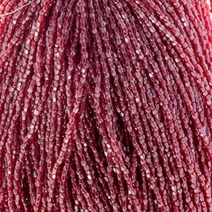 Picture of 3-Cut Size 9/0, Preciosa Czech Seed Bead, Transparent Red Luster, ~        Sold by the Hank