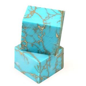 Picture of Turquoise with Gold Matrix BLOCK