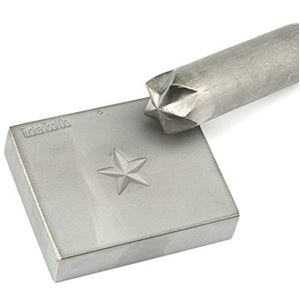 """Picture of Tucker Tool Concho Die, 2 Large Stars - Sizes 11/16"""" and ~ 7/8"""""""