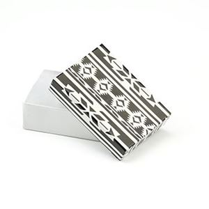 Picture of Black and White Cotton Filled Gift Box, 3 1/4 x 2 1/4 x 1 ~        Inch