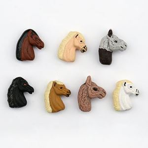 Picture of Assorted Horse Head Tiny Critter Bead