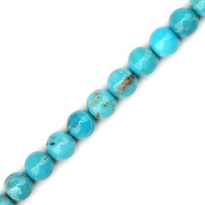 """Picture of Turquoise Stabilized Round Bead 5mm, 16"""" Strand"""