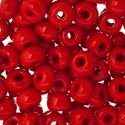 Picture of Size #32/0 Seed Bead, Opaque Light Red, Approximately 19 ~ Grams