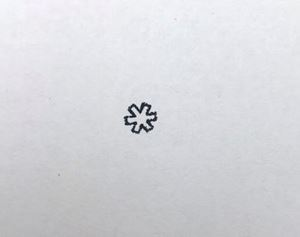 """Picture of 1/4"""" Stamp B51 Contemporary Star"""