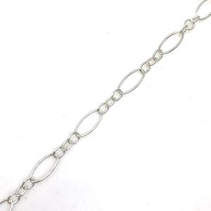 Picture of Sterling Silver Long & Short Bulk Chain 2.7mm, Sold by the ~ Foot