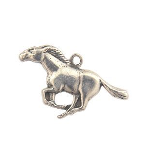 Picture of Sterling Silver Machine Cast Loop Running Horse ~ Charm