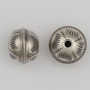 Picture of Sterling Silver Stamped Seam Bead Sunrise 8mm