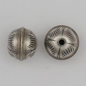 Picture of Sterling Silver Stamped Seam Bead Sunrise 9mm