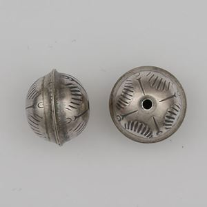 Picture of Sterling Silver Stamped Seam Bead Sunrise 12mm