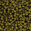 Picture of Semi-Glazed Olive Seed Beads #2601F / Size 8<br />Approximately 25 ~        Grams