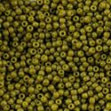Picture of Size 11 Japanese Seed Beads, Semi-Glazed Olive (#2601F), ~ Approximately 25 Grams