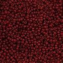 Picture of Size 11 Japanese Seed Beads, Semi-Glazed Dark Red (#2609F), ~ Approximately 25 Grams