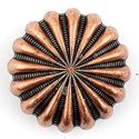 Picture of Copper Plated Oxidized Parachute Concho w/ Screw 25mm