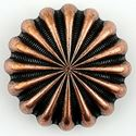 Picture of Copper Plated Oxidized Parachute Concho w/ Screw 30mm