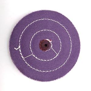 "Picture of 5"" PURPLE Treated Buff Wheel"