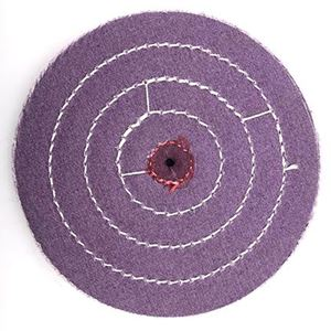 "Picture of 6"" PURPLE Treated Buff Wheel"