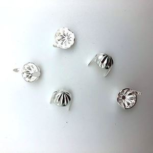 Picture of  Silver Plated 12.7mm Concho Spot, 2-Prong 10pc Pkg