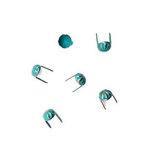 Picture of 6.3mm Silver Plated Oxidized Patina Concho Spot<br />20pc ~ Pkg
