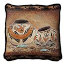 """Picture of Pillow Zuni Pottery 17"""""""