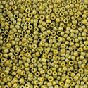 Picture of Semi-Glazed Rainbow Burnt Lemongrass Beads #2630F / Size 8<br ~        />Approximately 25 Grams