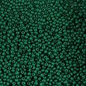 Picture of Opaque Medium Dark Green Seed Bead #10<br />  Approximately 25 ~        Grams
