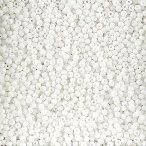 Picture of Opaque White Seed Bead Size 11<br />Approximately 25 ~        Grams