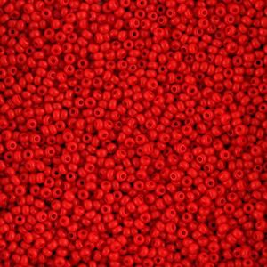 Picture of Size 11 Czech Seed Beads, Opaque Light Red, Approximately 25 ~ Grams