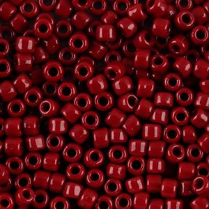 Picture of Opaque Red Seed Beads Color 408A Size 6<br />Approximately 25 ~        Grams