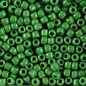 Picture of Opaque Green Seed Bead #411 / Size 6<br />Approximately 25 ~        Grams