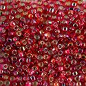 Picture of Silverlined Red Aurora Borealis Seed Beads #638 / Size 6<br ~        />Approximately 25 Grams